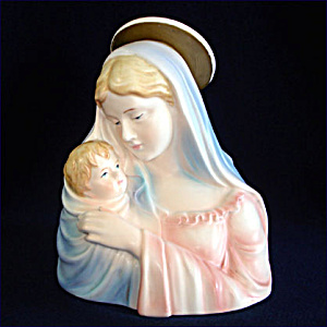 Lefton Madonna And Child Figural Planter (Image1)