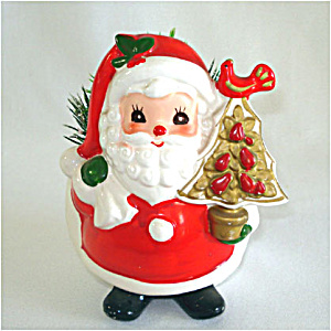 Napcoware Santa Claus With Pear Tree Christmas Planter (Image1)