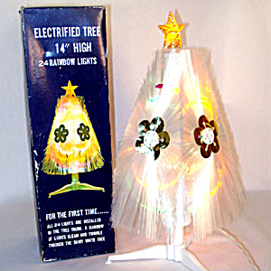 Rainbow Halo Lighted Fiber Optic Christmas Tree In Original Box (Image1)