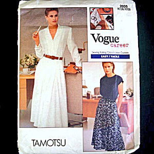 Vogue Tamotsu Career Ensemble Sewing Pattern Uncut (Image1)