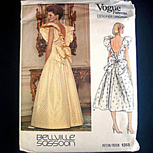 Vogue Bellville Sassoon Formal Bridesmaid Dress Sewing Pattern Size 10 Uncut (Image1)