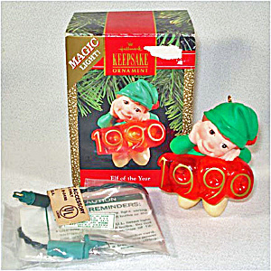 Hallmark 1990 Elf of the Year Lighted Christmas Ornament (Image1)