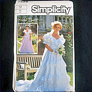 Simplicity Michele Piccione Bridal Gown Sewing Pattern Size 14 Uncut (Image1)
