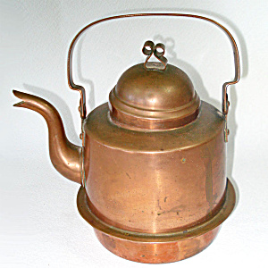 Swedish 1 Liter Copper Cook Stove Tea Kettle 1920s