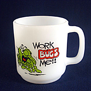 Glasbake Work Bugs Me Coffee Mug