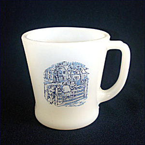Fire King Currier & Ives Glass Coffee Mug (Image1)