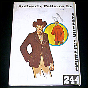 Authentic Patterns Man's Western Wear Blazer Jacket Size 44