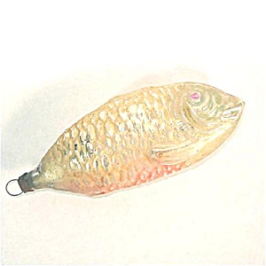 German Pastel Fish Figural Glass Christmas Ornament (Image1)