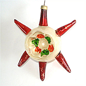 Sputnik Spiked German Indent Glass Christmas Ornament (Image1)
