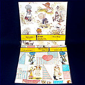 2 Packages Vintage Holly Hobbie Gift Wrap Paper (Image1)
