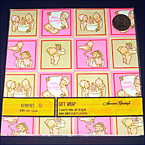Kewpies 1973 Birthday Gift Wrap Sealed Package (Image1)