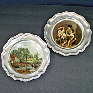 Rein Zinn Sks Pewter And Ceramic Decorative Wall Plates