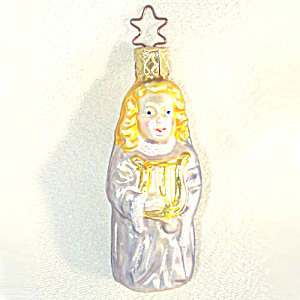 Inge Angel With Lyre Glass Christmas Ornament (Image1)