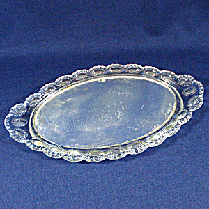 Antique Pressed Glass Mirrored Dresser Vanity Tray (Image1)