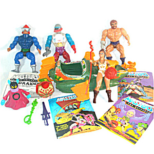He-Man Masters of the Universe Lot of Action Figures, Vehicle, Weapons (Image1)