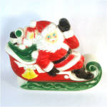 Click to view larger image of Empire Santa Claus on Sleigh Plastic Blow Mold Display Figure (Image1)