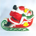 Click to view larger image of Empire Santa Claus on Sleigh Plastic Blow Mold Display Figure (Image2)