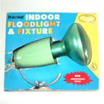 Click here to enlarge image and see more about item 10079-1: Penetray Green Christmas Floodlight With Fixture in Original Box