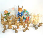 22 Piece Lot Plastic Angel Christmas Ornaments