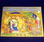 Click here to enlarge image and see more about item 10112: 1933 Manger Scene Christmas Nativity Punch Out Book
