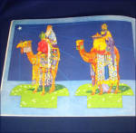 Click to view larger image of 1933 Manger Scene Christmas Nativity Punch Out Book (Image4)