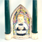 Click to view larger image of Christmas Choir Boy Ceramic Wall Pocket Candle Holder (Image4)