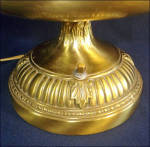 Click to view larger image of Eames Era Brass Cone Shade Bowl TV or Table Lamp (Image3)