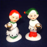 Click to view larger image of Napco Mini Bone China Christmas Elf Candle Holders (Image4)