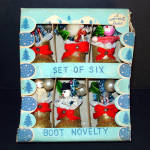 Box 1950s Compo Boots Chenille Bottle Brush Christmas Ornaments