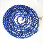 Click here to enlarge image and see more about item 10370-2: Cobalt Blue Mercury Glass Bead Christmas Garland 7.5 Feet