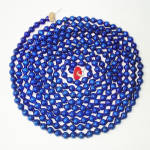 Click here to enlarge image and see more about item 10370-2A: Cobalt Blue Mercury Glass Bead Christmas Garland 7.75 Feet