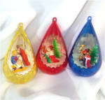Click here to enlarge image and see more about item 10370: Jewel Brite Nativity Scene Plastic 3D Christmas Ornaments