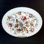 Click here to enlarge image and see more about item 10387: Johnson Brothers Staffordshire Bouquet Oval Serving Platter