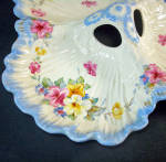 Click to view larger image of Crown Ducal Floral Clover Shape 3 Section Dish (Image2)