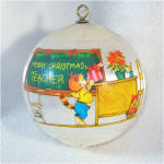 Click to view larger image of Hallmark 1980 Teacher Christmas Ornament (Image2)