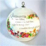 Click to view larger image of Hallmark 1980 Granddaughter Christmas Ornament (Image3)