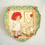 Click to view larger image of 4 Whitney 1920s Die Cut Valentine Cards (Image4)