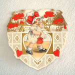 Click to view larger image of 4 Whitney 1920s Die Cut Valentine Cards (Image5)