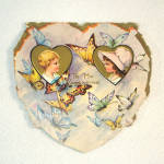 Click to view larger image of 4 Whitney 1920s Die Cut Valentine Cards (Image6)