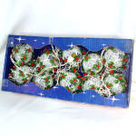 Click here to enlarge image and see more about item 10446: Noma Filigree Ball Fancy Christmas Light Set In Original Box