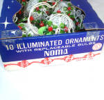 Click to view larger image of Noma Filigree Ball Fancy Christmas Light Set In Original Box (Image2)