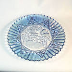 Click here to enlarge image and see more about item 10469: Federal Pioneer Fruit Blue Glass Sandwich Plate