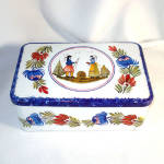 Click here to enlarge image and see more about item 10508: French Quimper Style Breton Biscuit Tin
