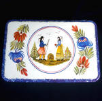 Click to view larger image of French Quimper Style Breton Biscuit Tin (Image2)