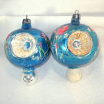 Click to view larger image of Poland Fancy Painted Flower Triple Indent Glass Christmas Ornaments (Image3)
