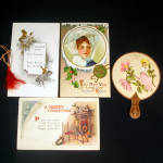 Victorian New Years, Christmas Postcards and Paper Items