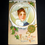 Click to view larger image of Victorian New Years, Christmas Postcards and Paper Items (Image3)