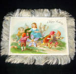 Click to view larger image of Victorian Fringed Birthday Card and Celluloid Bookmark (Image2)