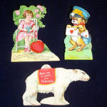 Click here to enlarge image and see more about item 10547: 3 German Valentines Circa 1910