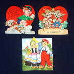 3 Childrens Valentine Cards 1930s to 1940s